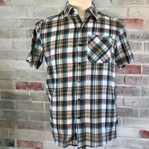 Kuhl Metal Button Front Organic Cotton Plaid Shirt
